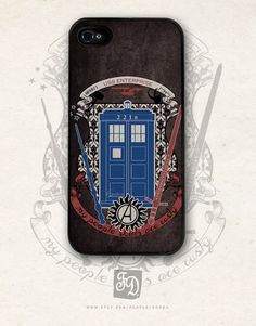Iphone 4 / 4s case crest of the knight of fandom / Supernatural, Doctor Who, Sherlock, Avengers, Potter, Star Trek, Merlin, Hobbit - I need this O_O