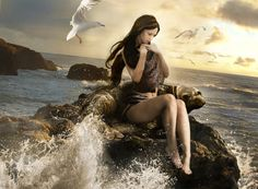 Selkies are mythological creatures found in Irish, Scottish, Faroese, and Icelandic folklore. Selkies are said to live as seals in the sea but shed their skin to become human on land. Dragons, Types Of Fairies, Water Nymphs, Gifs, Ondine, Celtic Mythology, Cryptozoology, Merfolk, Mythological Creatures