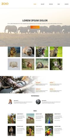 Zoo Responsive One Page Theme. HTML/CSS Themes. $12.00