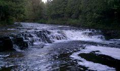 Ocqueoc Falls in Michigan