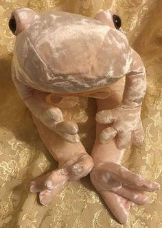 """20"""" Commonwealth Light Pink Cream Silky Velvet Frog Plush Stuffed Animal Soft #CommonwealthToys"""