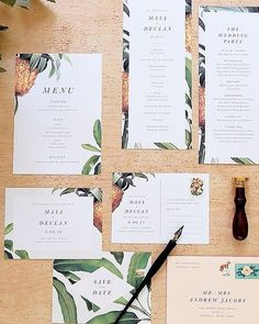 Classy tropical  just love this  Stationery | @rachelmarvincreative  #2017bride #2017wedding #2016bride #2016wedding #wedding #bride #bridetobe #bridal #weddingideas #weddinginspiration #weddings #pineapplelove #pineapple #tropical #tropicalwedding #stationery #weddinginvitation #savethedate