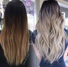 Balayage cool tones // Patrizia Conde Ombre Hair Color, Hair Color Balayage, Hair Highlights, Balyage Hair, Hair Looks, Dyed Hair, Hair Inspiration, Hair Makeup, Hair Cuts