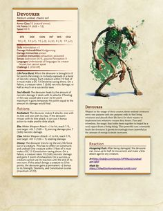 Dungeons And Dragons Classes, Dungeons And Dragons Homebrew, Dungeons And Dragons Characters, Dnd Characters, Dnd Stats, Dnd Dragons, Dnd Races, Dungeon Master's Guide, Dnd 5e Homebrew