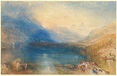 The Lake of Zug - 1843  Joseph Mallord William Turner, Watercolor over graphite.