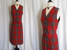 Plaid jumper.  Wear with blouse or turtleneck.