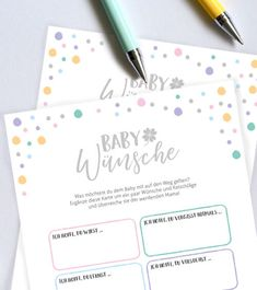 "Baby Shower Games Cards ""Baby Wishes"" - 10 pieces- Babyparty-Spiele-Karten ""Baby-Wünsche"" – 10 Stück Send the little abdomen a few … - Baby Shower Brunch, Fiesta Baby Shower, Baby Shower Fun, Baby Shower Parties, Babyshower Party, Baby Party, Baby Shower Activities, Baby Shower Printables, Baby Showers Juegos"