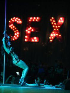 Visible, bad club girl leslie stripper