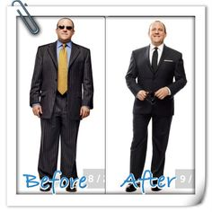 A tailored suit is an essential wardrobe piece. Before/After