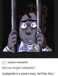 "Yeah when Hamilton said ""he's a smart man he'll be fine"" Lafayette was in jail 😢 Alexander Hamilton, Aaron Burr, Hamilton Broadway, Hamilton Musical, Theatre Nerds, Musical Theatre, Theater, Hamilton Comics, Le Cri"