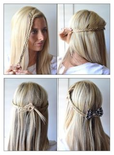 How To Make The Pull-Back Fishtail Braid | hairstyles tutorial