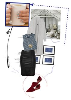 """Nautical for fall,cos why not?!"" by lindagama ❤ liked on Polyvore featuring Joseph, A.L.C., Vince, Blue Nile, Fall, stripes, Leather and Nautical"