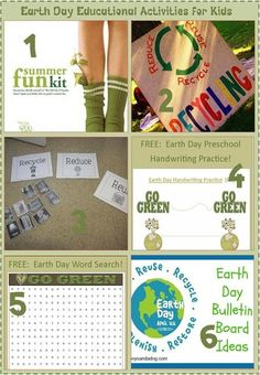 Earth Day Educational Activties for Kids http://ibeebz.com