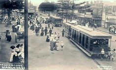 Trams on The Corso of Manly in the Northern Beaches region of Sydney in 🌹 Australian Continent, Largest Countries, Historical Images, Small Island, Sydney Australia, Tasmania, Aerial View, Continents, Old Photos