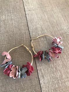 Diy Earrings Kit, Jewelry Design Earrings, Tassel Jewelry, Fabric Jewelry, Clay Earrings, Cute Jewelry, Earrings Handmade, Jewelry Crafts, Bridal Earrings