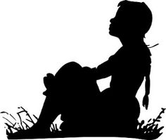 Silhouette - Girl on Lawn