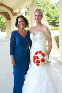 One of our beautiful brides on her wedding day.