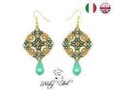 Earrings Majolica - beading pattern