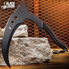 Buy Black Legion Warrior Kama with Sheath Zombie Weapons, Ninja Weapons, Anime Weapons, Fantasy Weapons, Cool Knives, Knives And Swords, Odin's Spear, Videogames, Types Of Swords