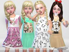 The Sims 4: Koszule nocne dla małych dziewczynek od Pinkzombie...