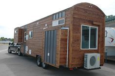 This Tiny House Isnt Exactly But Certainly Has Lots Going On With 3 Slide Outs And Built A Gooseneck Trailer