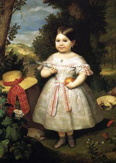 Portrait of a Girl. 1847. Carlos Luis de Ribera y Fieve