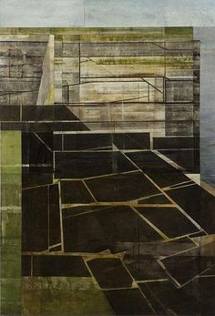 Gwen Davidson's mixed media painting on canvas