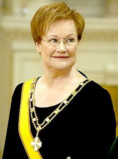 Tarja Halonen s. 1943 Helsinki, the eleventh president of Finland, Elected as president in and re-elected in Finland's first female president.