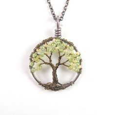 Dogwood Sapling Mini Tree of Life Necklace with by HomeBabyCrafts, $26.00    Midwife?