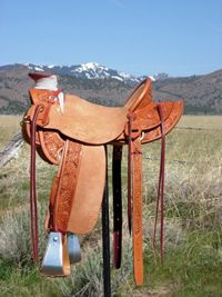 Stamped Saddles with Half Double Sirrup Leathers : Image 1