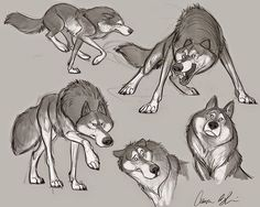 More wolves done for my upcoming Character Design Course due out the first week of July. #wolves #characterdesign #drawing