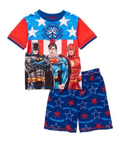 Look at this Justice League America Two-Piece Pajama Set - Kids on #zulily today!