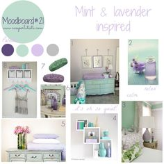 mint and lavender moodboard: perfect for bedroom!
