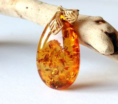 Royal amber pendant, amber jewelry, gold plated and amber, drop cognac amber bead, natural Baltic amber, elegant amber pendant, amber by AmberDesign8 on Etsy