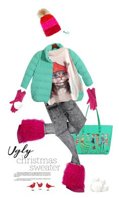 """""""Love Ugly Christmas sweater!"""" by vinograd24 ❤ liked on Polyvore featuring Chicnova Fashion, Mischa Lampert, Cheap Monday, Vincent Pradier and uglychristmassweater"""