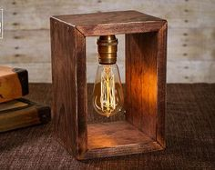 Shadow Box Edison Lamp Table Lamp Desk Lamp by DanCordero