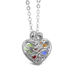 Mother's Heart Locket with 12 Birthstones  love love love this...