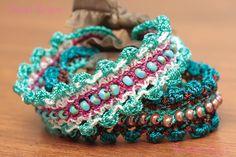 Detailed crochet tutorial for bohemian beaded bracelet #bohemiancrochetpattern #crochetbracelet