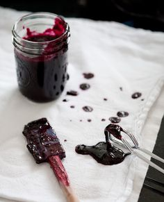 blueberry basil preserves, I wan to try this with my Thai basil. it has lemony flavor that should pair well with the blueberries