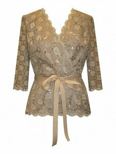 Plus Size Champagne Lovely Lace Top