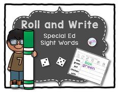 A fun way to practice sight words.  Roll a die and use the key at the top of the page to write each word in a different color.  Includes a blank sheet to use for any additional words your students are learning. You might also enjoySpecial Ed Sight Word Clip CardsRead, Stamp and Write Dolch Sight WordsThank you for visiting my store!
