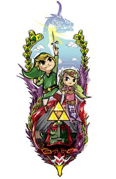 Wind Waker! Not my very favorite Legend of Zelda game, but definitely one of the best!