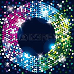 Abstract glowing background  Disco, celebration, magic decoration