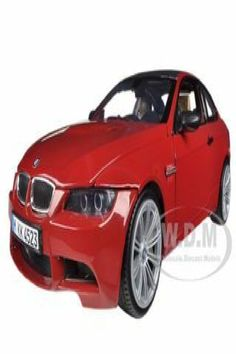 Brand new 1/18 scale diecast car model of BMW M3 E92 Coupe Red die cast model car by Motormax. Brand new box. Real rubber tires. Steerable wheels. Officially licensed product. Has opening hood and doors. Made of diecast with some plastic parts. Detailed interior, exterior, engine compartment. Dimensions approximately L-10.5, W-4, H-3 inches. Bmw Models, Rubber Tires, Discount Coupons, Bmw M3, Diecast, Engineering, Model Car, Vehicles, Red