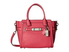 COACH Pebbled Leather Coach Swagger 21. #coach #bags #leather #lining #accessories #shoulder bags #charm #hand bags #