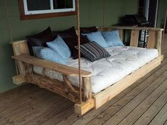 swinging porch lounger