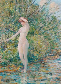 View Nude by Childe Hassam on artnet. Browse upcoming and past auction lots by Childe Hassam. Canvas Signs, Norman Rockwell, Global Art, Art Market, Artist At Work, American Art, Female Art, Oil On Canvas, Auction
