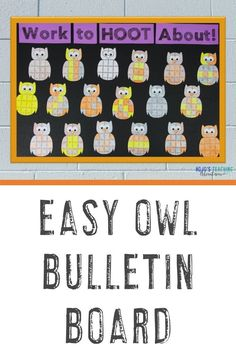 Check out this awesome owl bulletin board! Great for a fall display in your classroom, hallway, or doorway. Use it in your elementary classroom. #OwlBulletinBoard #FallBulletinBoard #HalloweenBulletinBoard Owl Activities, Classroom Activities, Classroom Decor, Halloween Bulletin Boards, Owl Bulletin Boards, Practice Math Problems, Division Math Games, Halloween Math, 5th Grade Classroom