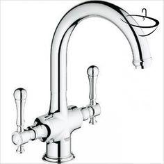 Grohe Kitchen Mixer Taps - Bridgeford Two Handle Sink Mixer Grohe Kitchen Taps, Kitchen Mixer Taps, Sink, Handle, Sink Tops, Vessel Sink, Vanity Basin, Sinks, Door Knob