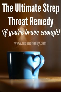 This strep throat remedy sounds crazy, but the author actually used it to cure (diagnosed!) strep throat while pregnant and wanting to avoid antibiotics. It worked incredibly well! A sore throat remedy. Cough Remedies For Adults, Cold Remedies, Natural Home Remedies, Natural Healing, Herbal Remedies, Health Remedies, Strep Throat Remedies Natural, Strep Remedies, Strep Throat Cure
